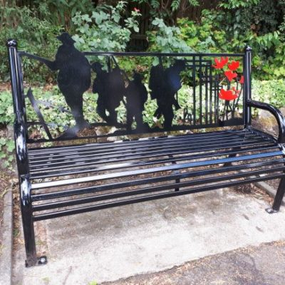 Wwi Commemorative Bench In Central Park